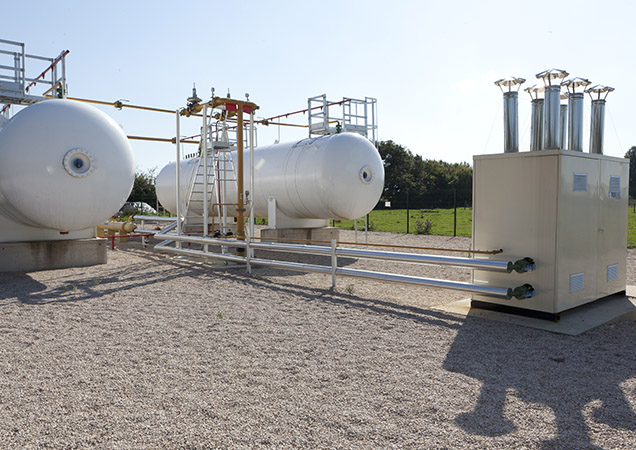 Citernes uniques pour le gaz propane en réseau