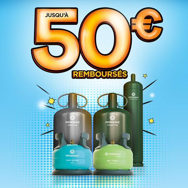 Jusqu'à 50 euros remboursés pour l'achat d'une consigne de gaz