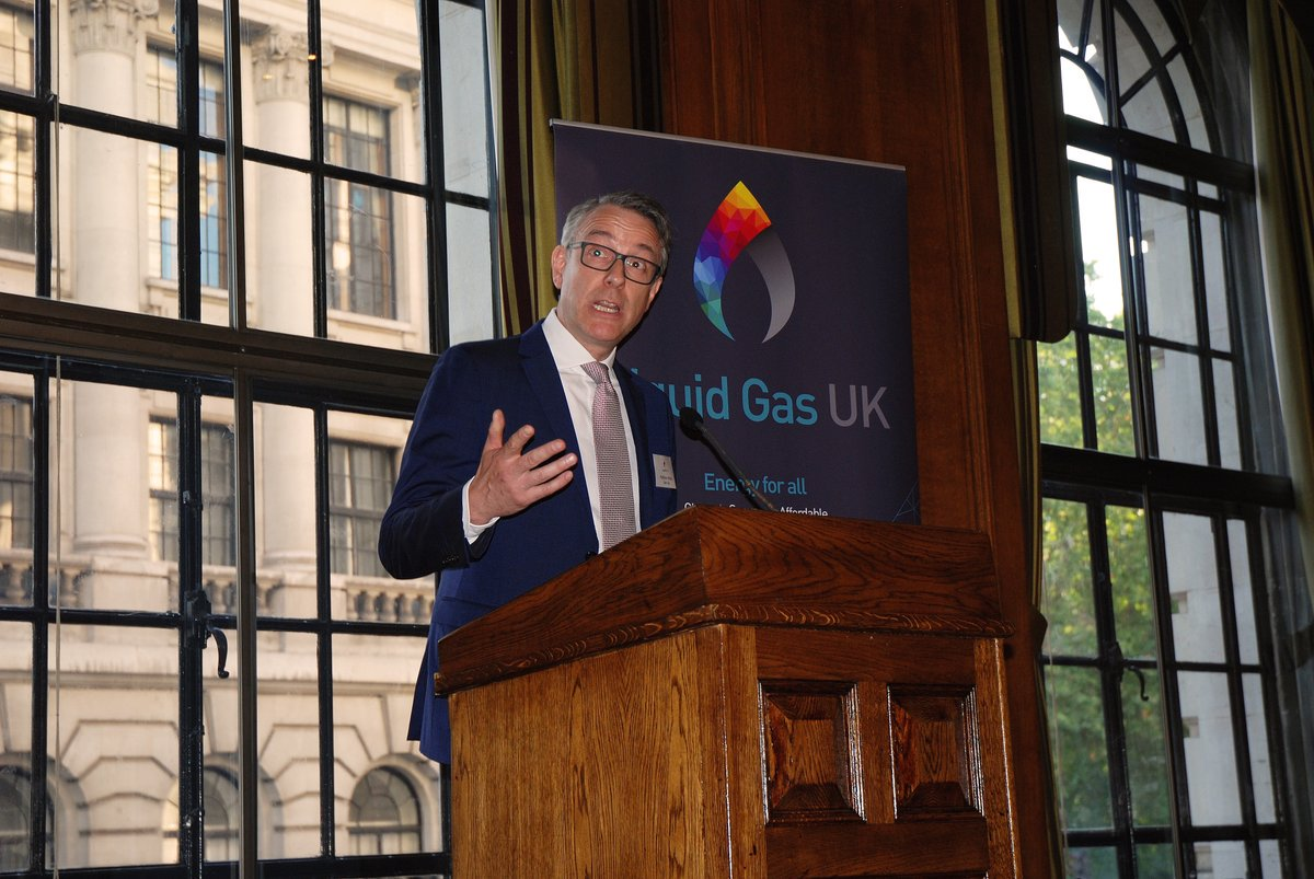 Mathew Hickin, Calor CEO talking at Liquid Gas UK event