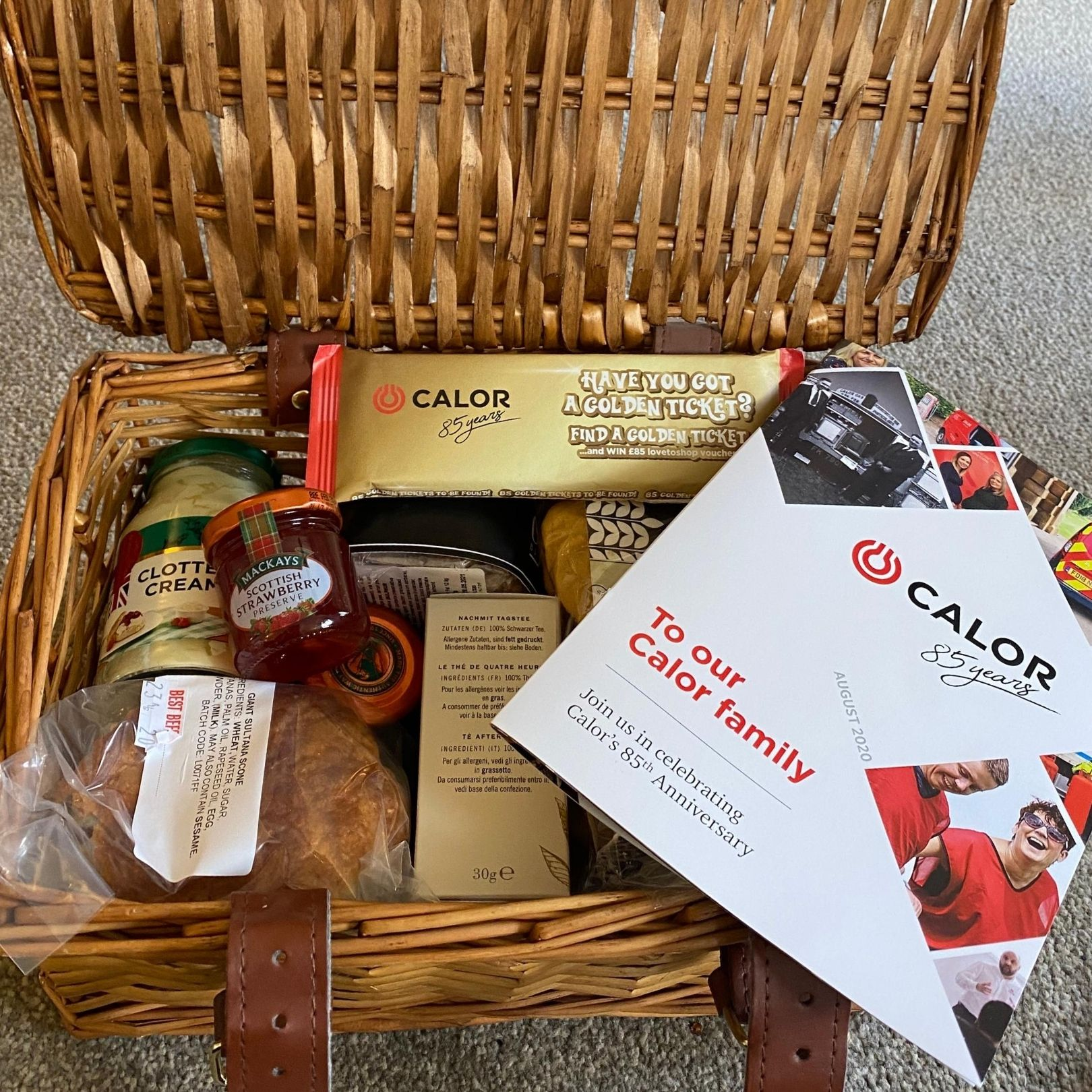 Calor Gas 85 years hamper gift to staff