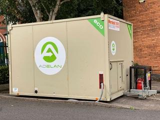 Adelan branded generator powered by Calor LPG