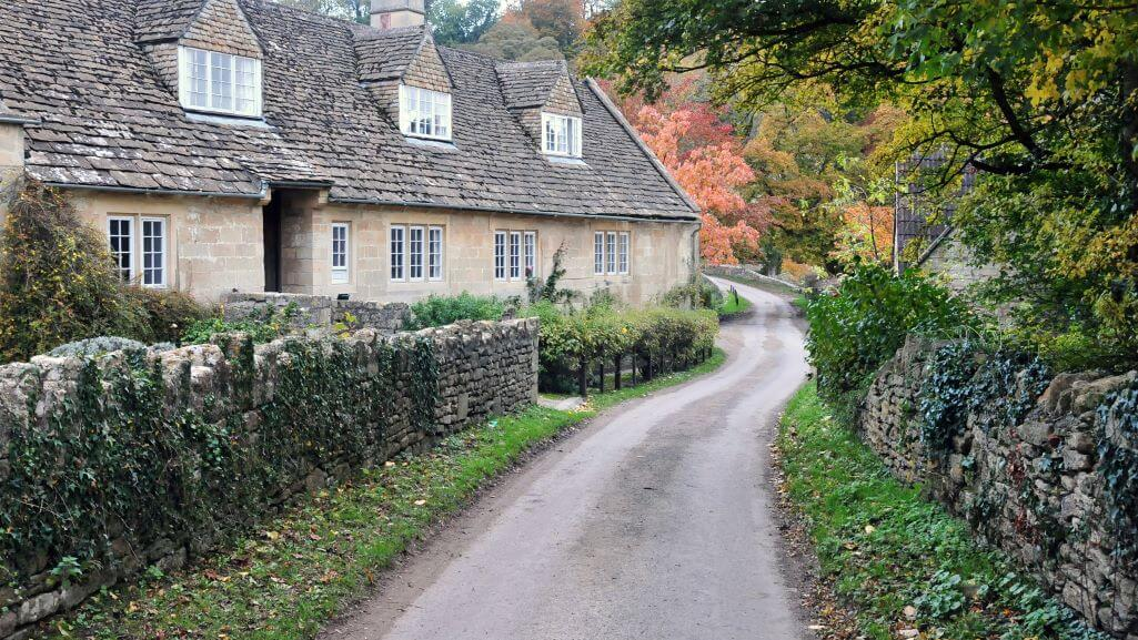 A house on a country lane