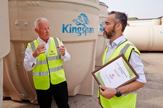 Calor worker working with Kingspan