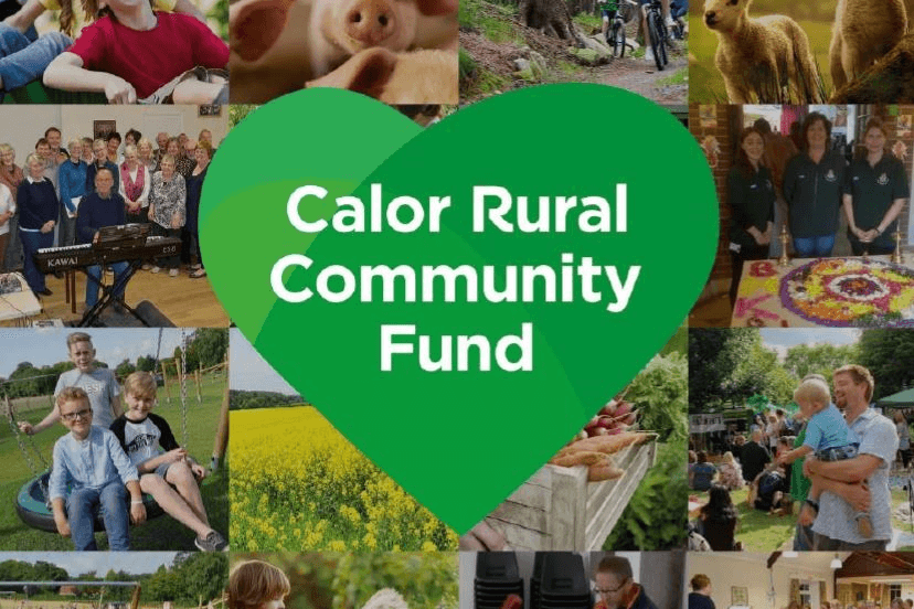 Community fund logo and collage