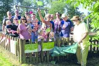 Community Fund supporters in the park