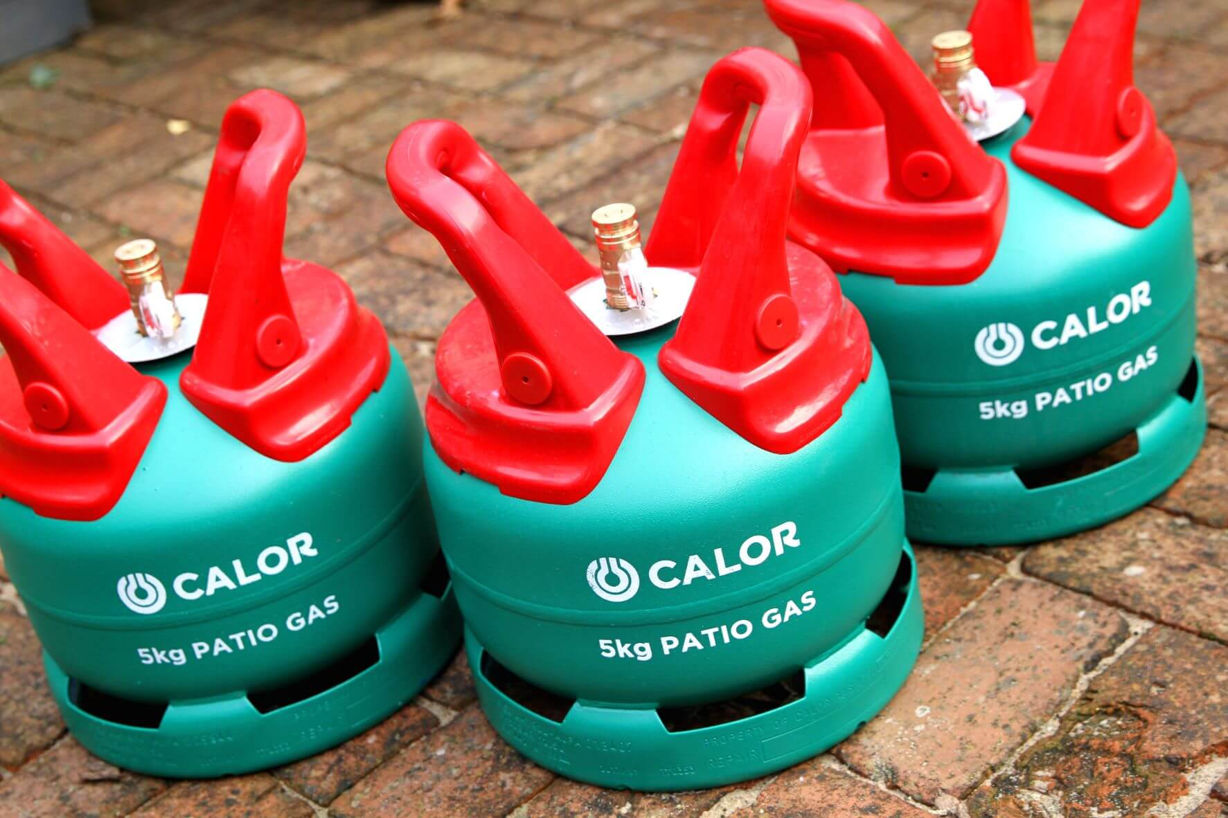 Three 5kg Calor Patio Gas bottles