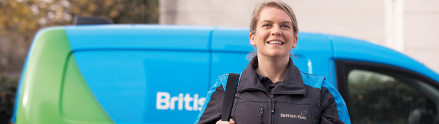 British Gas engineer heading to complete a job