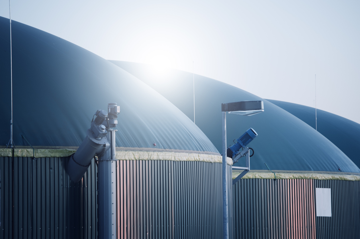 Anaerobic digesters used in Biomethane production for Gas-to-grid