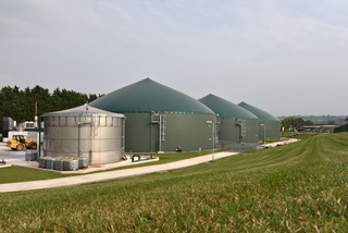 Anaerobic digestion plant on Wyke Farm