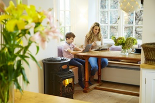 Home heated by a Calor LPG portable heater